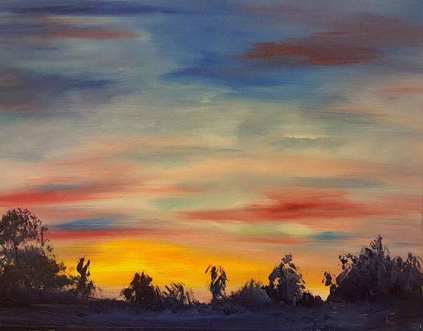 August Sunset In Sw Montana Art Print