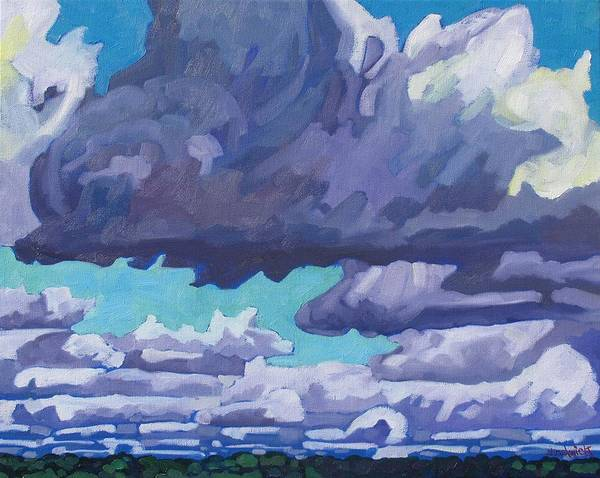 Stratocumulus Painting - August Turbulent Stratocumulus by Phil Chadwick