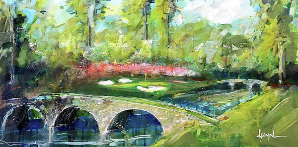 Augusta Masters Painting - Augusta 12th by Dave Baysden