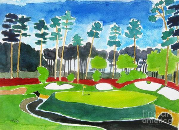 Augusta Masters Painting - Augusta 13th Georgia by Lesley Giles