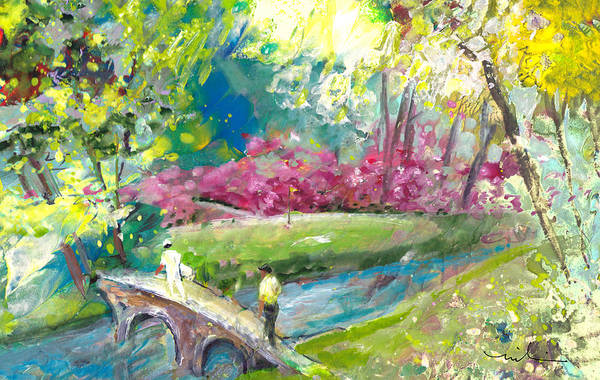 Painting - Augusta Golf Course by Miki De Goodaboom
