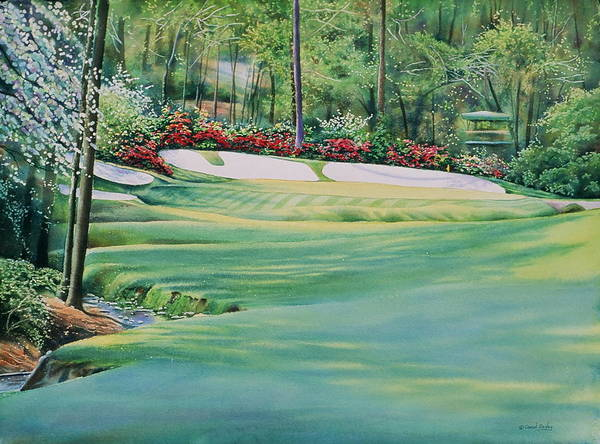 Augusta Masters Painting - Augusta National 13th Hole by Daniel Dayley