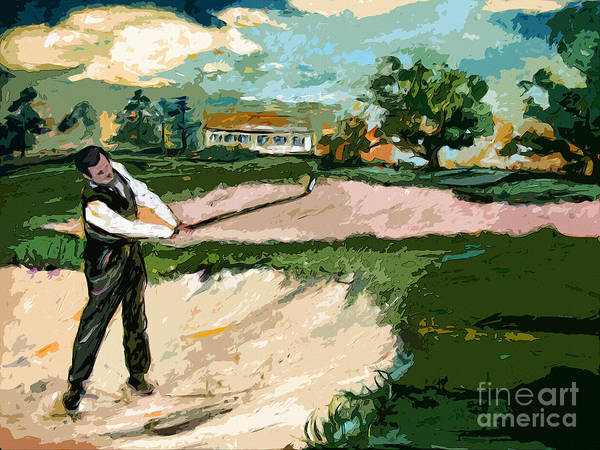 Painting - Augusta National Bobby Jones Vintage Golf by Ginette Callaway