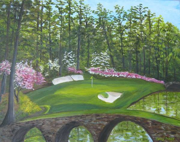 Augusta Masters Painting - Augusta National Hole No. 12 In Springtime by Sally Jones