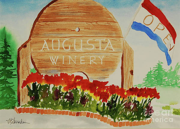 Wall Art - Painting - Augusta Winery by Annette McGarrahan