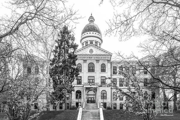 Photograph - Augustana College Old Main Classic by University Icons