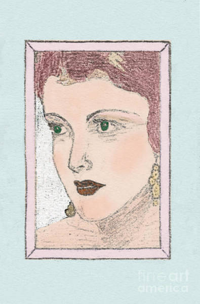Drawing - Aunt Edie by Donna L Munro