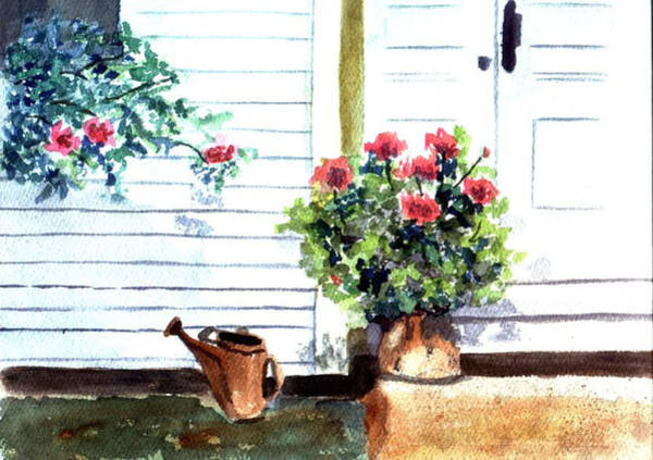 Painting - Auntie's Porch by Jane Croteau