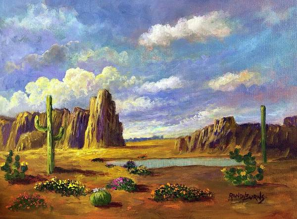 Painting - Aura Of The Desert Light by Randy Burns
