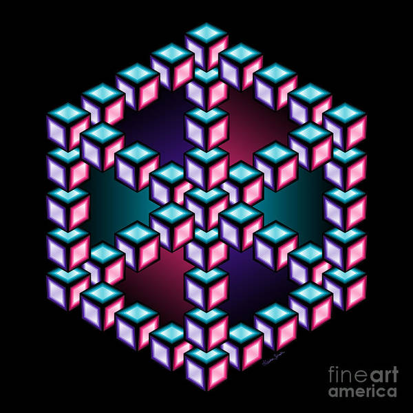 Digital Art - Aurelia Cube 2 by Heather Schaefer