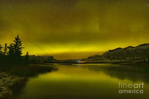 Photograph - Auroa Borealis At Talbot Lake by Adam Jewell