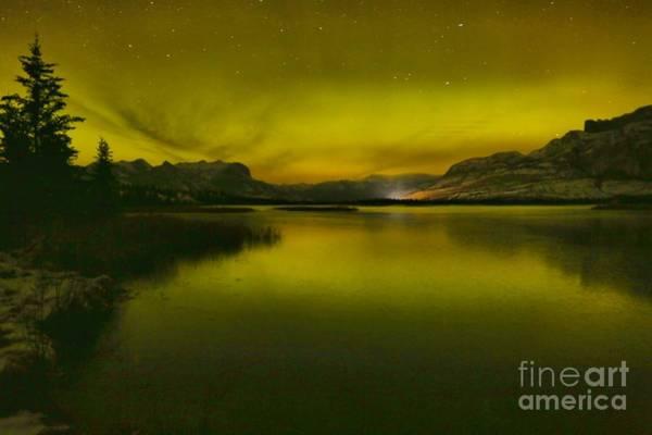 Photograph - Auroa Borealis Over Talbot Lake by Adam Jewell
