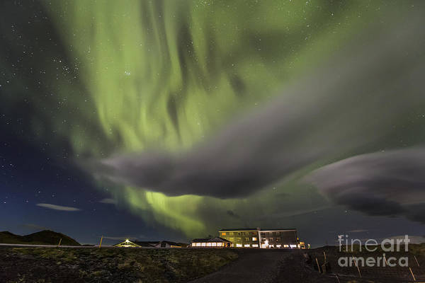 Photograph - Aurora And Moving Cloud by Hitendra SINKAR