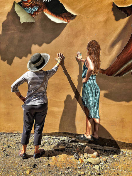 Photograph - Aurora And The Mural by Frank Winters