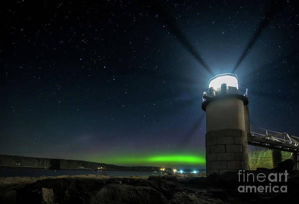 Northern Maine Wall Art - Photograph - Aurora At Marshall Point by Scott Thorp