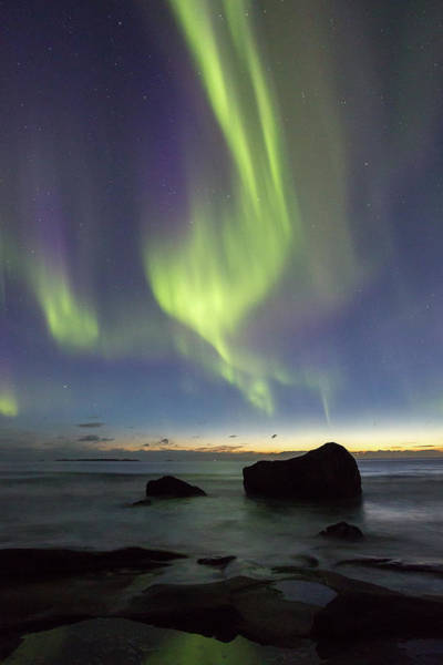 Photograph - Aurora At Uttakleiv by Alex Conu
