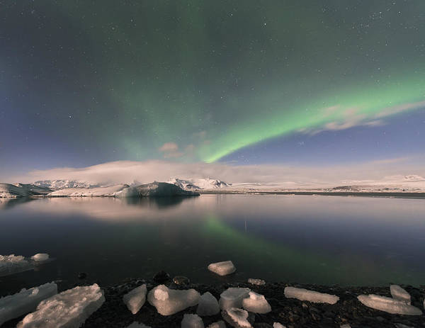 Photograph - Aurora Borealis And Reflection by Wanda Krack