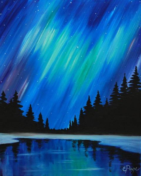 Painting - Aurora Borealis by Emily Page