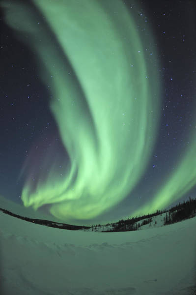 Yellowknife Wall Art - Photograph - Aurora Borealis Over Prosperous Lake by Jiri Hermann