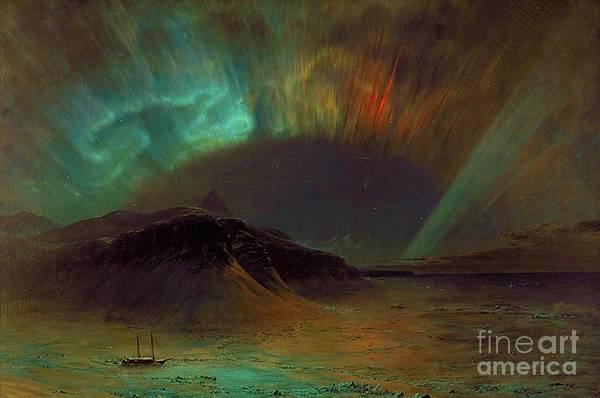 Aurora Borealis Painting - Aurora Borealis by Pg Reproductions