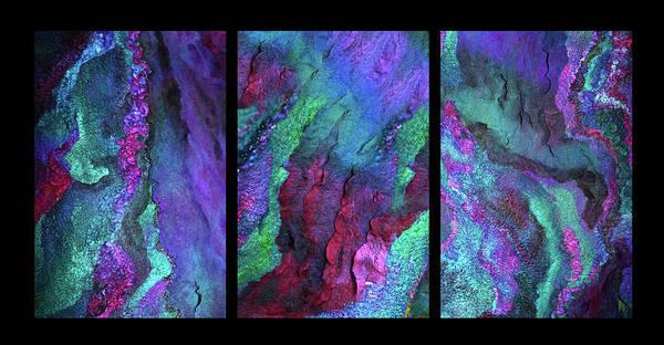 Photograph - Aurora Borealis Triptych by Marina Schkolnik