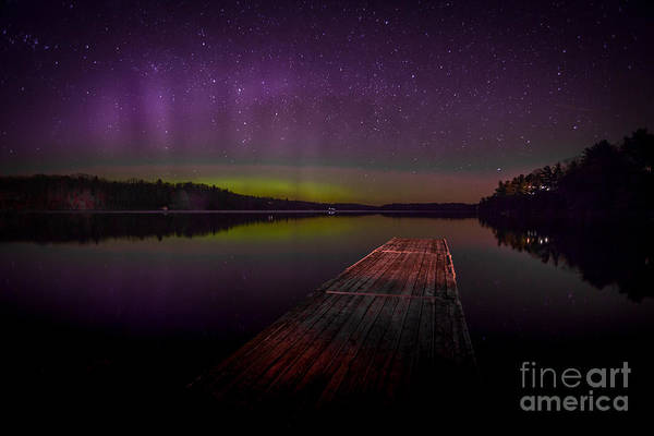Photograph - Aurora Over Desert Lake by Roger Monahan