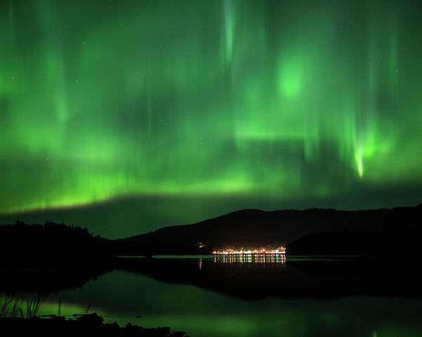 Photograph - Aurora Over Hoonah by Ian Johnson
