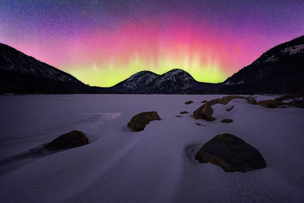 Northern Maine Wall Art - Photograph - Aurora Over Jordan Pond by Jeff Bazinet
