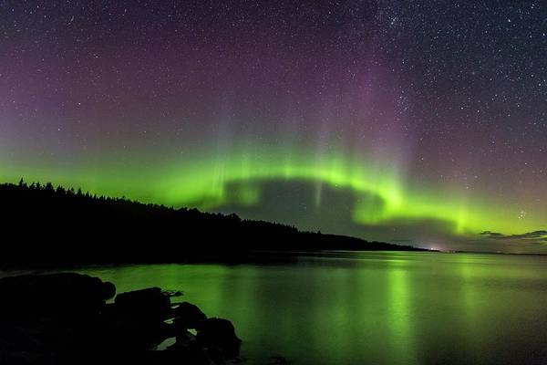 Photograph - Aurora Over Superior 1 by Paul Schultz