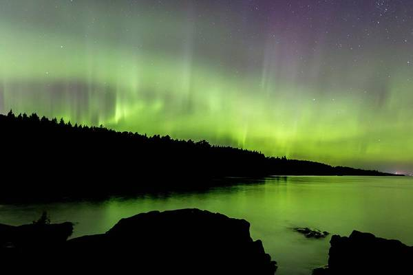 Photograph - Aurora Over Superior 5 by Paul Schultz