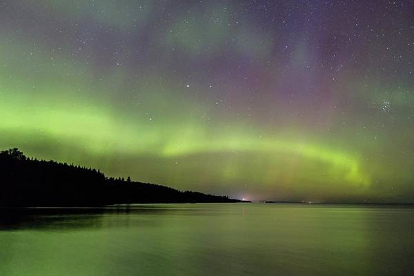 Photograph - Aurora Over Superior 7 by Paul Schultz