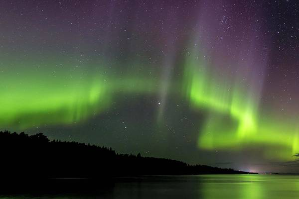 Photograph - Aurora Over Superior 2 by Paul Schultz
