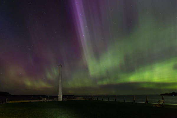 Photograph - Aurora Over The Harbor by Paul Schultz