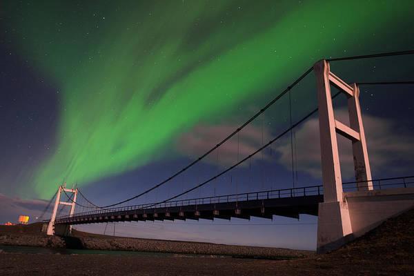 Wall Art - Photograph - Aurora Skies Over The Jokulsarlon Bridge by Mike Berenson