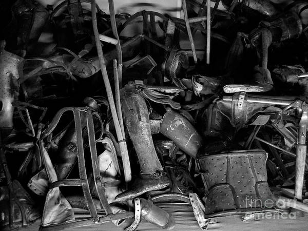 Concentration Camp Photograph - Auschwitz-birkenau Crutches by RicardMN Photography