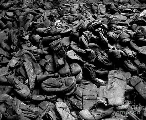 Concentration Camp Photograph - Auschwitz-birkenau Shoes by RicardMN Photography