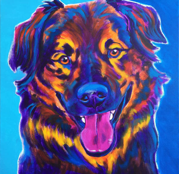 Wall Art - Painting - Aussie - Grizzly by Alicia VanNoy Call