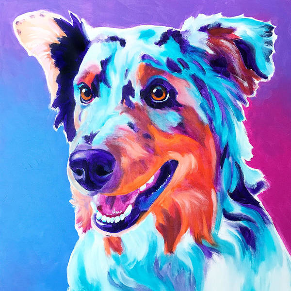 Wall Art - Painting - Aussie - Pepper by Alicia VanNoy Call
