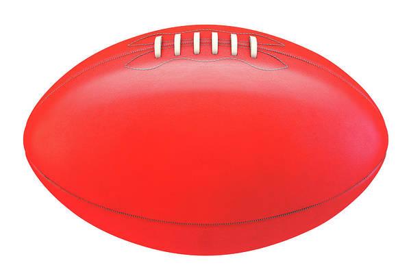 Oval Digital Art - Aussie Rules Ball by Allan Swart