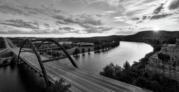 Photograph - Austin 360 Pennybacker Bridge Sunset by Todd Aaron