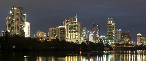 Capital Of Texas Wall Art - Photograph - Austin At Night by Jonathan Davison