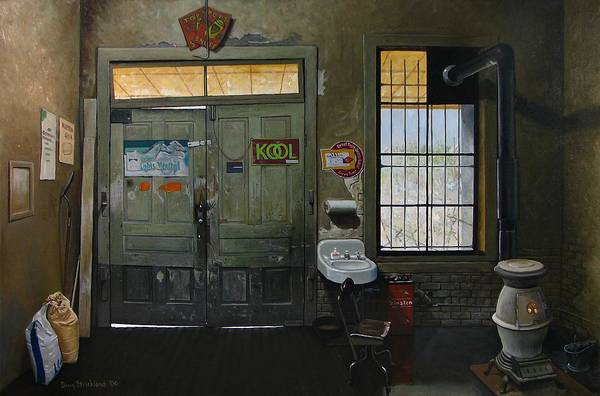 Wall Art - Painting - Austin General Store Interior by Doug Strickland