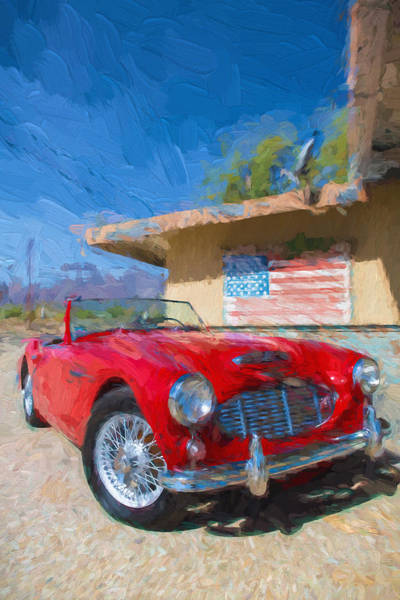 Digital Art - Austin Healey 3000 Impasto Study 1 by Scott Campbell