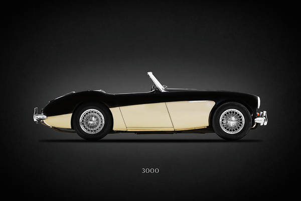 Healey Photograph - Austin Healey 3000 by Mark Rogan