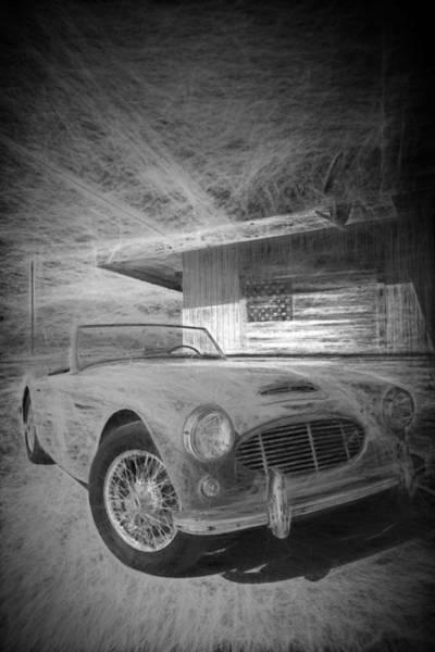 Digital Art - Austin Healey Chalk Study 1 by Scott Campbell
