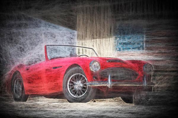 Digital Art - Austin Healey Chalk Study 4 by Scott Campbell