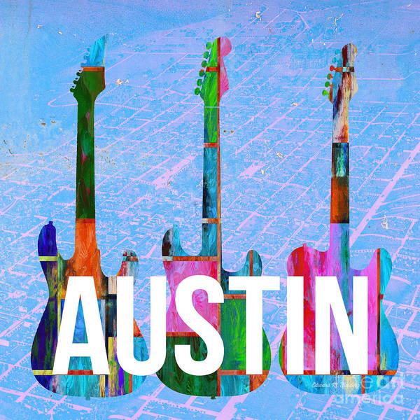 Music City Painting - Austin Music Scene by Edward Fielding