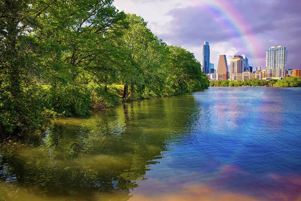 Photograph - Austin Rainbow Reflections by Lynn Bauer