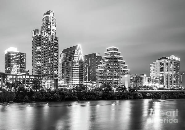 Austin Skyine At Night Art Print