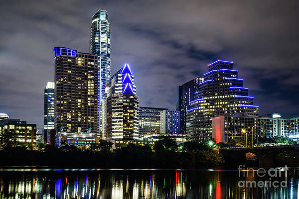 Wall Art - Photograph - Austin Skyline At Night 2016 by Paul Velgos